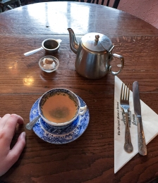 One of my many cups of tea while in England