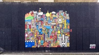 Some street art off of London Bridge