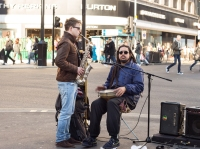 I watched these musicians for 2 hours outside of Liverpool Street station